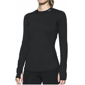 Under Armour Cold Gear Black Fitted Mock Neck Sz L